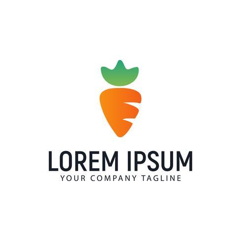 modèle de concept de design de carotte logo vecteur