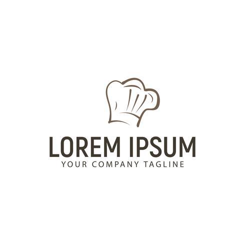 modèle de concept de design chef hat logo vecteur