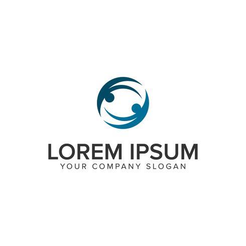 modèle de concept de logo partenaire commercial vecteur