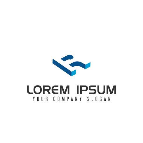 Modèle de concept de conception de logo lettre espace négatif vecteur