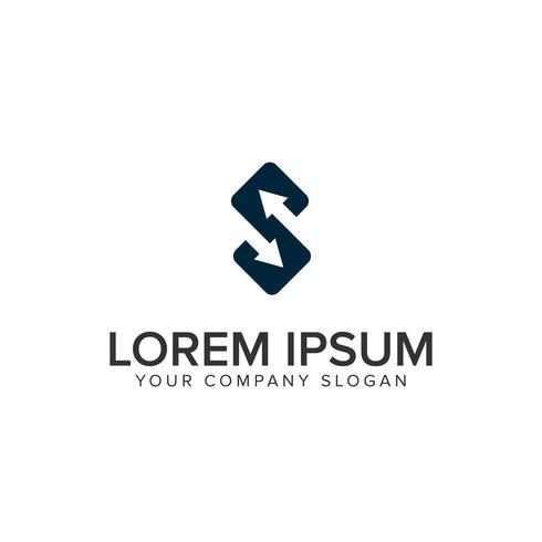 Modèle de concept de design lettre S flèche logo vecteur