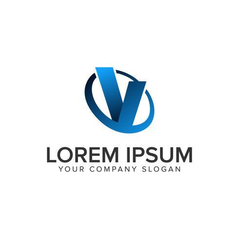 Modèle de concept de conception logo Cative moderne lettre V. vecteur entièrement éditable
