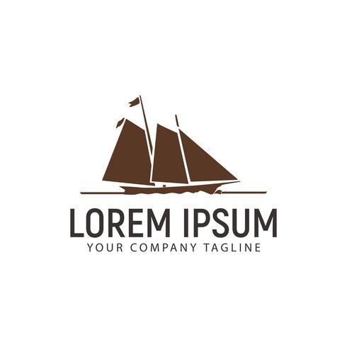 modèle de concept de conception de logo de navire vecteur