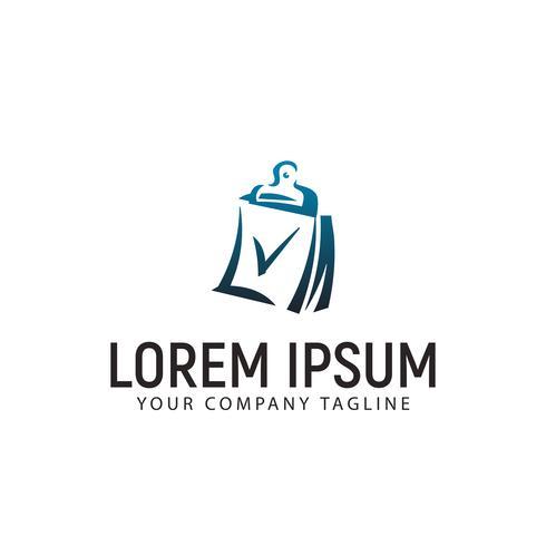 chec marque document modèle logo design concept vecteur