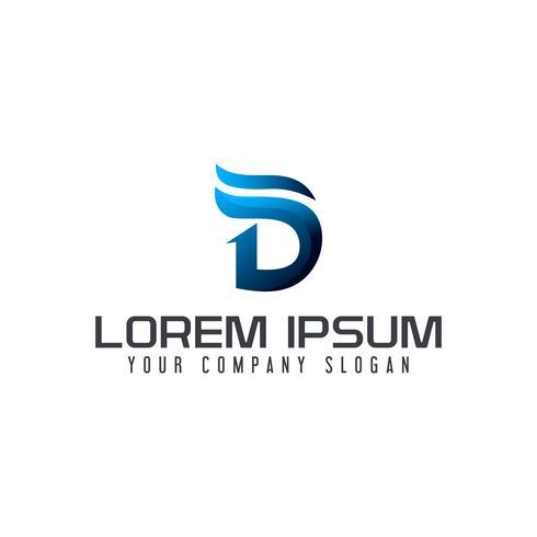 modèle de concept de design lettre moderne logo D vecteur