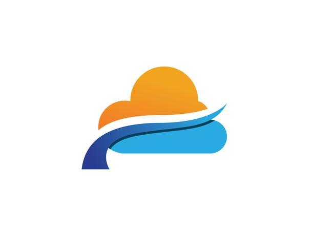 Icônes logo et symboles de données de serveurs Cloud vecteur