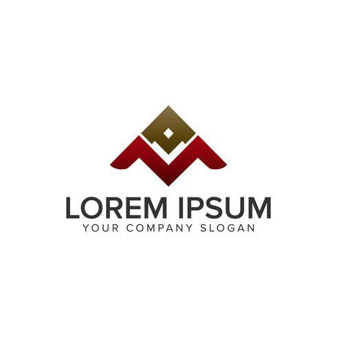 modèle de concept de conception de logo lettre A et M vecteur