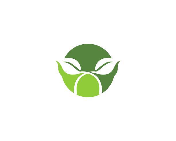 feuille verte écologie nature élément vectoriel icônes