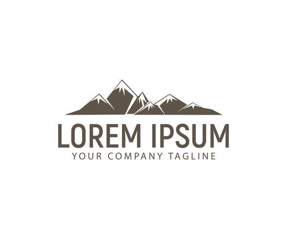 modèle de concept de design logo montagne vecteur