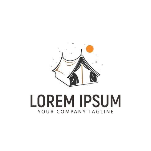 modèle de concept de design logo tente vecteur