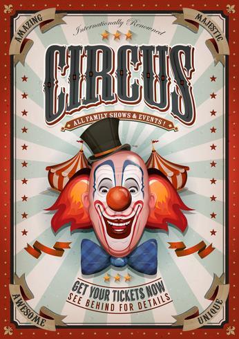 Affiche Vintage De Cirque Avec Grand Chapiteau vecteur