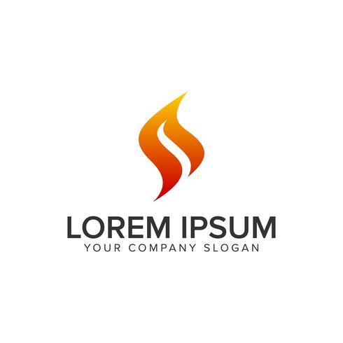 Modèle de concept de design logo lettre S flamme. vect entièrement éditable vecteur