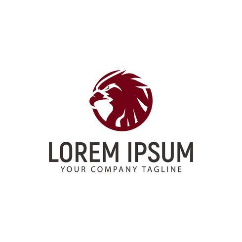 Modèle de concept de design Eagle cercle logo vecteur