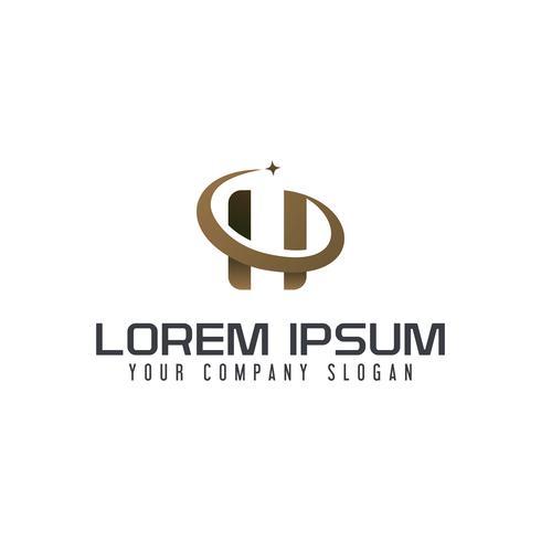 Lettre H logo. modèle de concept de design d'entreprise vecteur
