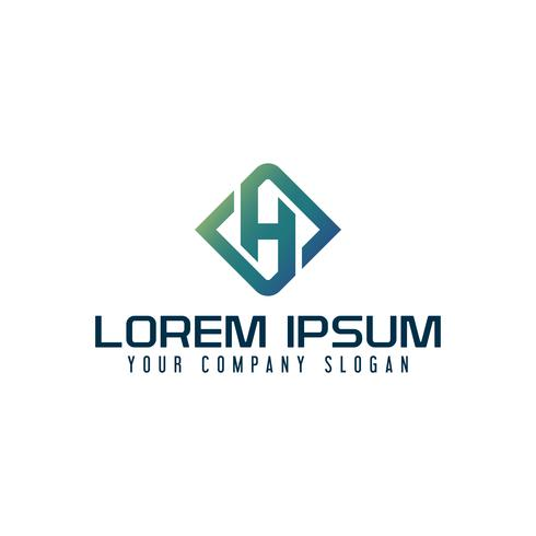 Logo de l'emblème de la lettre H. modèle de conception de technologie d'entreprise vecteur