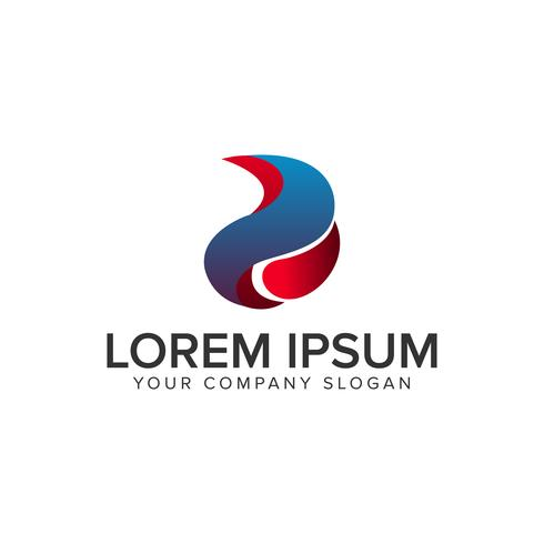 Modèle de concept de conception 3D Liquid Logo. vecteur entièrement éditable