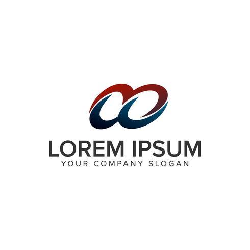 modèle de concept cercle design synergie logo. vect entièrement éditable vecteur