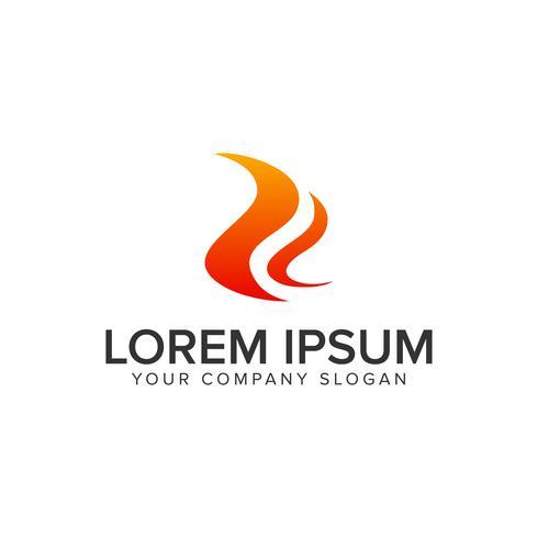 Modèle de concept de design logo lettre R flamme. vect entièrement éditable vecteur