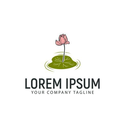 modèle de concept de conception fleur lis tulipes vecteur