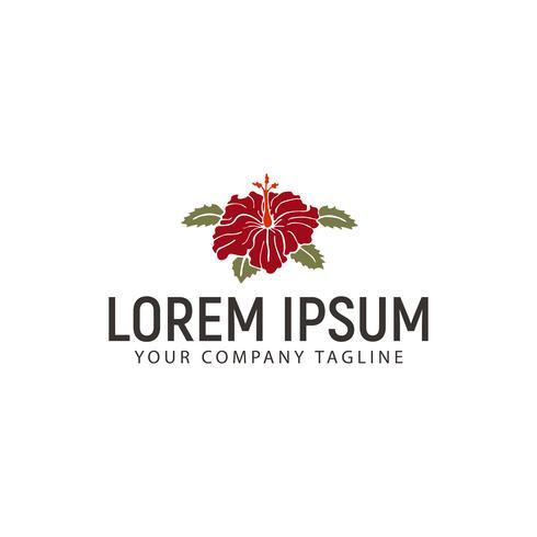 modèle de concept de design logo fleur d'hibiscus vecteur