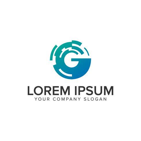 Modèle de concept de conception lettre G technologie logo. entièrement éditable vecteur