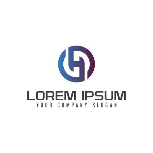 Modèle de concept de design lettre H logo vecteur