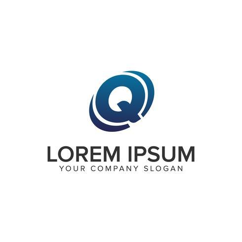 Modèle de concept de design lettre créative moderne Q Logo. entièrement éd vecteur