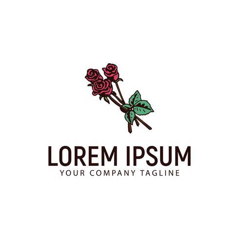 mariage arrangements de fleurs logo dessiné à la main conception concept templ vecteur