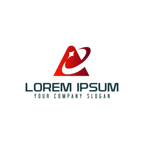 Lettre A logo. modèle de concept de technologie d'affaires vecteur