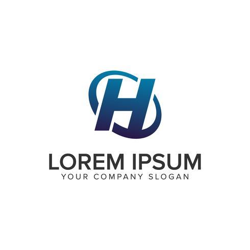 Modèle de concept de design lettre créative moderne H Logo. entièrement éd vecteur
