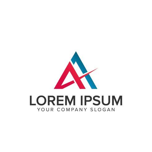 lettre A logo vecteur