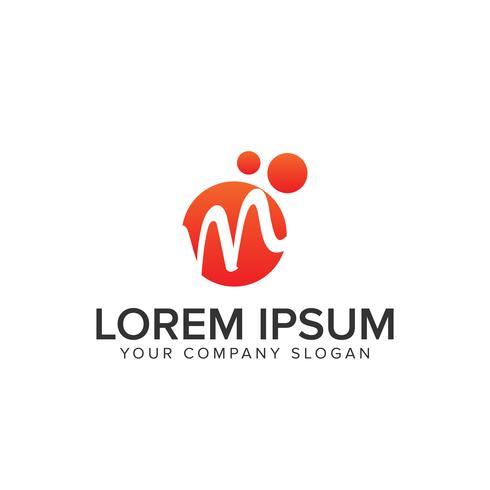 logo lettre M cercle vecteur