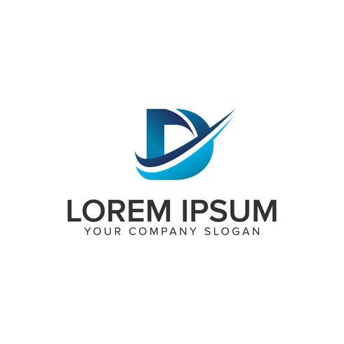 Cative moderne lettre D modèle de concept de design de logo. éditer complètement vecteur