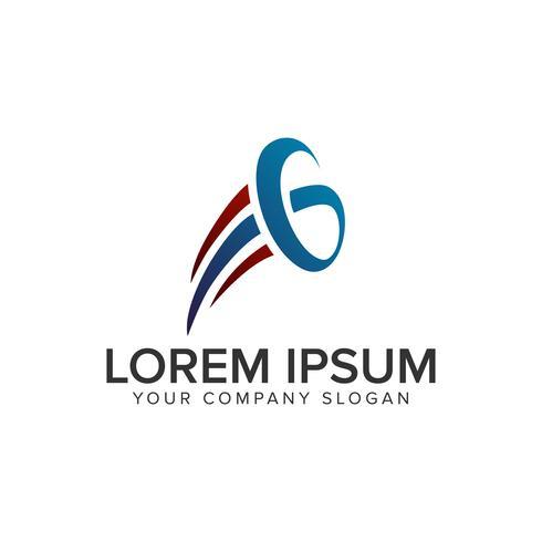 lettre G lauch logo modèle de concept de design. vect entièrement éditable vecteur