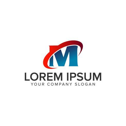Modèle de concept de conception lettre M technologie logo. entièrement éditable vecteur