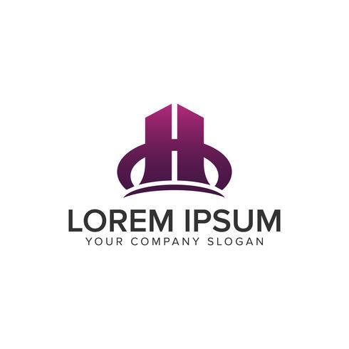 lettre H modèle de concept de logo de luxe logo. vecteur