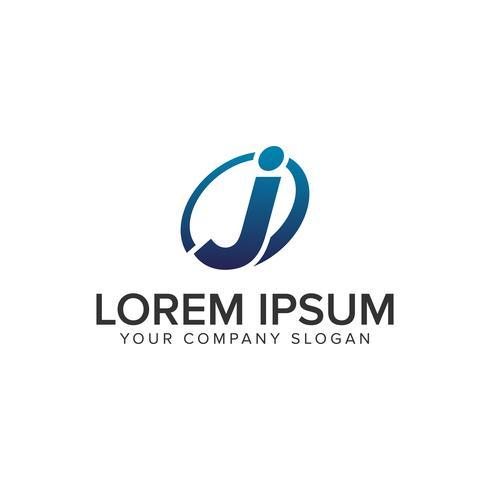 Modèle de concept créatif lettre moderne J Logo design. entièrement éd vecteur