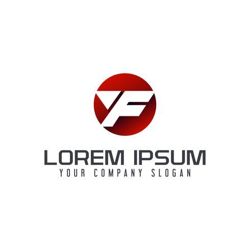 lettre F logo moderne. modèle de conception de cercle vecteur