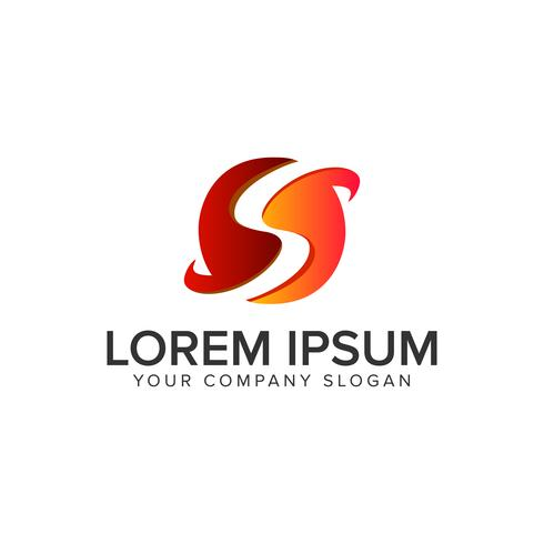 Modèle de concept de conception logo lettre S cercle. vec entièrement éditable vecteur