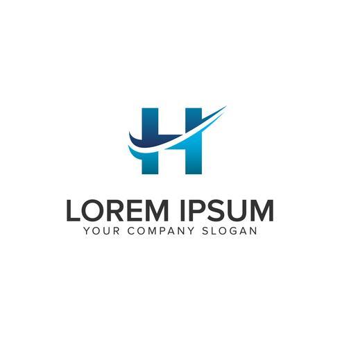 Cative moderne lettre H modèle de concept de design de logo. éditer complètement vecteur