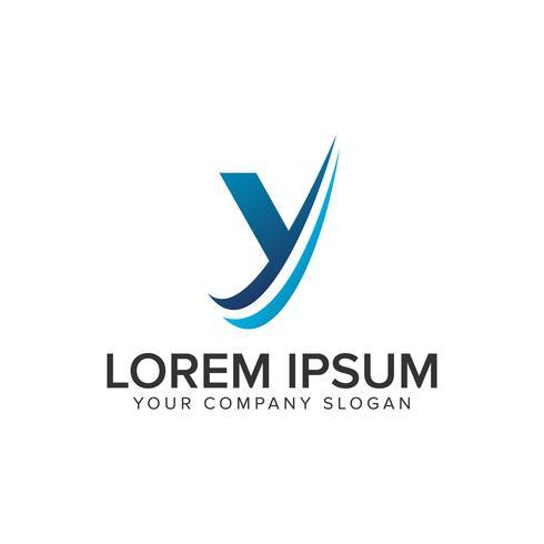 Modèle de concept de conception Cative moderne lettre Y Logo éditer complètement vecteur