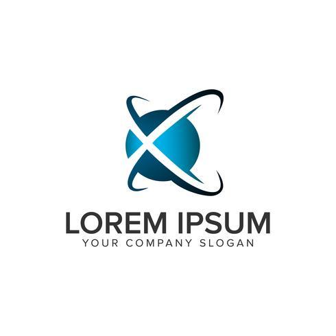 lettre X modèle de concept de logo logo. vect entièrement éditable vecteur