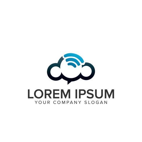 logo sans fil en nuage vecteur