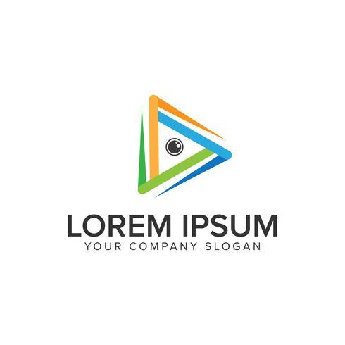 Support d'objectif de caméra Modèle de concept de logo design. vecteur