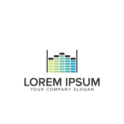 logo musique aqualizer vecteur
