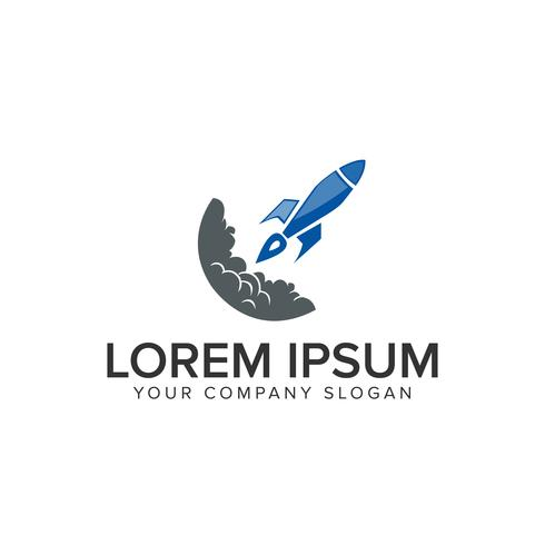 logo de la fusée de lancement vecteur