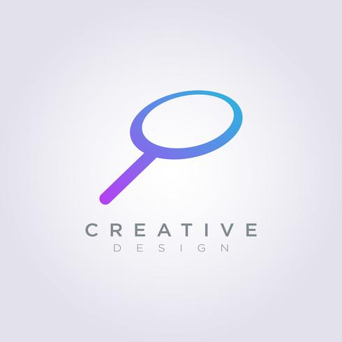 Icône de Logo Design Vector Magnify