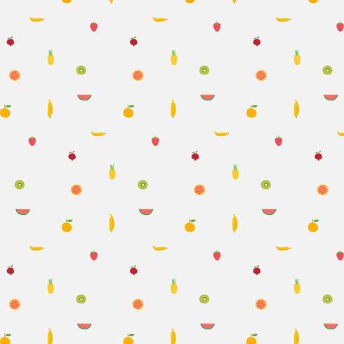 Fond avec motif de fruits. Illustration vectorielle dessinés à la main. vecteur