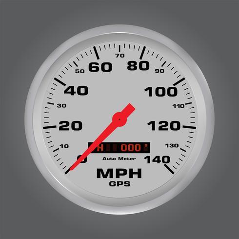 Indicateurs de vitesse 3d avec cadre en métal vecteur