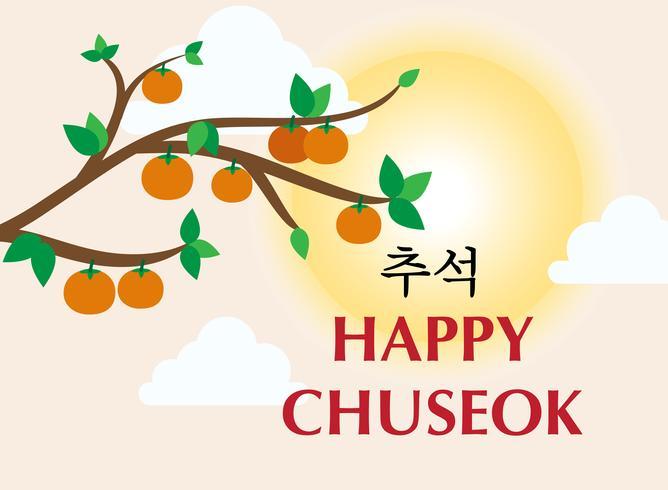 Chuseok ou Hangawi illustration vectorielle de bannière modèle - jour de Thanksgiving coréen vecteur